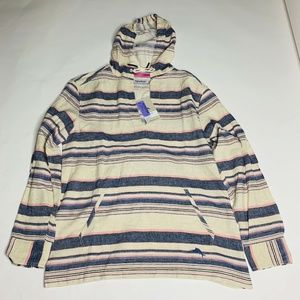 Tommy Bahama Sweater Medium Baja Haze Hoodie New